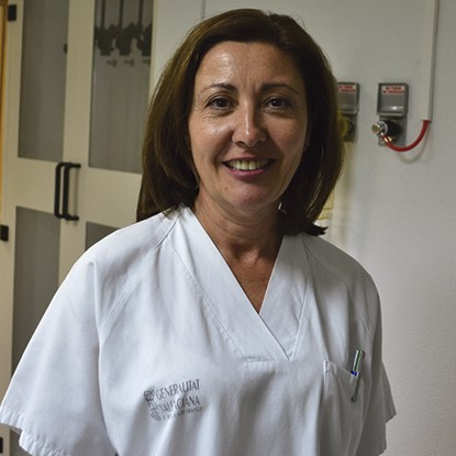 Rosa Ana Pérez Enfermera Broncoscopia Hospital Clínico Universitario de Valencia