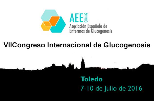 VII Congreso Internacional de Glucogenosis en Toledo del 7-10 de julio 2016