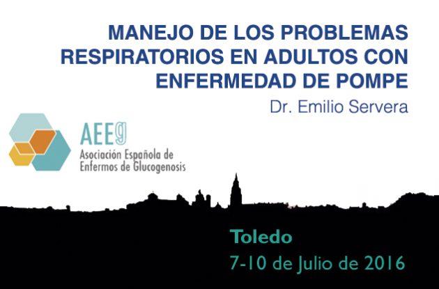Ponencia del Dr. Emilio Servera Congreso Internacional de Glucogenosis de Toledo